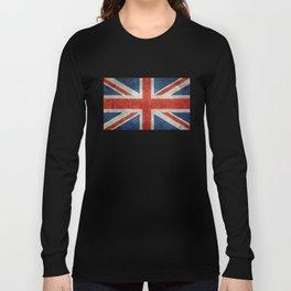 "English Flag ""Union Jack"" bright retro 3:5 Scale Long Sleeve T-shirt"