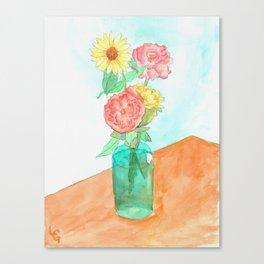 Flower Vase Canvas Print