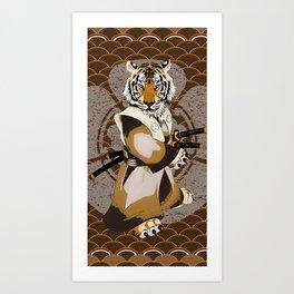Tiger Samurai, Tiger Ronin, Iaido, Kenjutsu Art Print