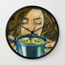 There's a Cat in my Tea Wall Clock