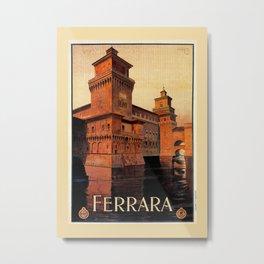 Castello Estense Ferrara Italy Metal Print