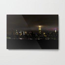 Empire State at Night, B Metal Print