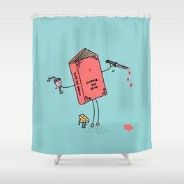 Murder She Read Shower Curtain