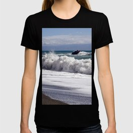 WAVES on the EAST-COAST of SICILY T-shirt