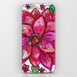 Vibrant Watercolor Flower iPhone Skin