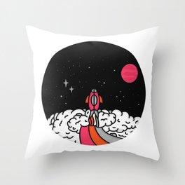 15 Minutes to Mars Throw Pillow