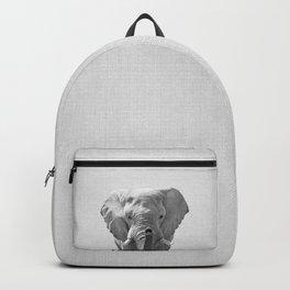 Elephant - Black & White Backpack