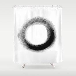 The Black O Shower Curtain