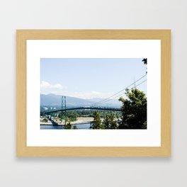 Lions Gate Bridge Framed Art Print