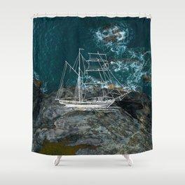 Shower Ship Shower Curtain