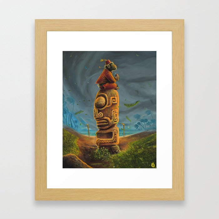 Koshi Greets The Storm Framed Art Print