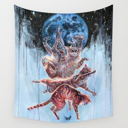 Felinoid Fall Wall Tapestry