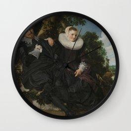 Frans Hals, Portrait of a Couple, circa 1622. Wall Clock
