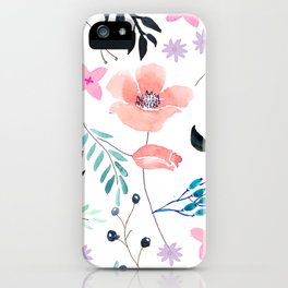Sweet Floral Watercolor iPhone Case
