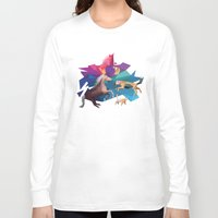 low poly Long Sleeve T-shirts featuring low poly animals by sofiefatale