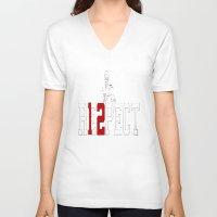 patriots V-neck T-shirts featuring tom brady respect shirt - patriots by JUST SAYIN