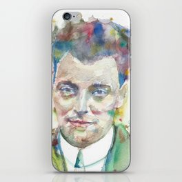 WOLFGANG PAULI - watercolor portrait iPhone Skin