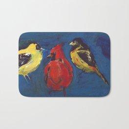 Shadow Bird (Cardinal, Goldfinches, and ?) Bath Mat