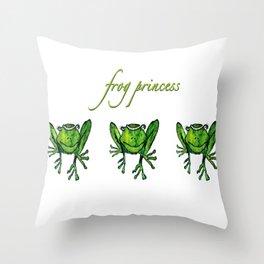 Frog Princess Throw Pillow