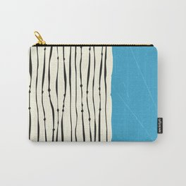 Blue Zebra Stripes Carry-All Pouch