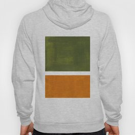 Olive Green Yellow Ochre Minimalist Abstract Colorful Midcentury Pop Art Rothko Color Field Hoody