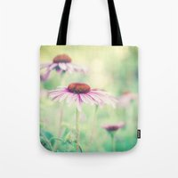 500 days of summer Tote Bags featuring summer days by Bonnie Jakobsen-Martin