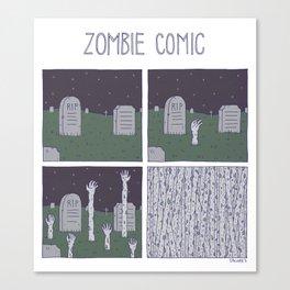 Zombie Comic Canvas Print