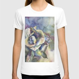Rose fine art watercolor painting.  Fine art painting of rose T-shirt