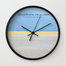 LIFE IS BLUE & YELLOW - Limited Edition Wall Clock