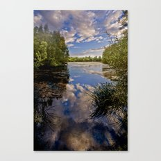 Fenland Reflections Canvas Print