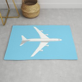 747-400 Jumbo Jet Airliner Aircraft - Sky Rug
