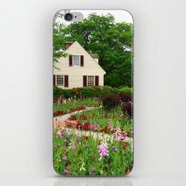 Cottage Garden - Colonial Williamsburg iPhone Skin
