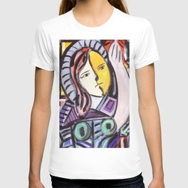 Portrait of a cubist girl T-shirt