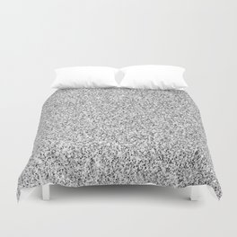 Beautiful Silver glitter sparkles Duvet Cover