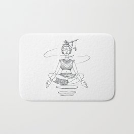 Yogi in lotus position. Bath Mat