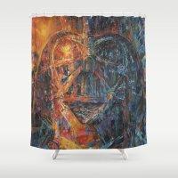 vader Shower Curtains featuring Vader by artofJPH