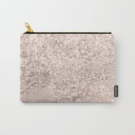 Blush Glitter Dream #4 #shiny #decor #art #society6 Carry-All Pouch