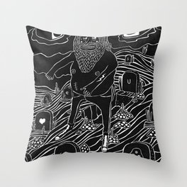muerto viviente Throw Pillow