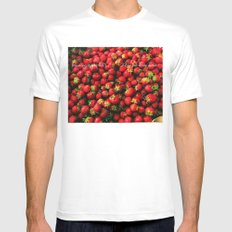 Love you berry much White MEDIUM Mens Fitted Tee