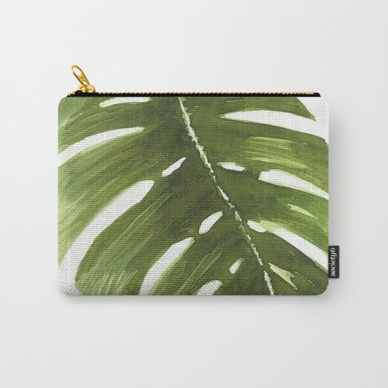 Nature leaves I monstera Carry-All Pouch
