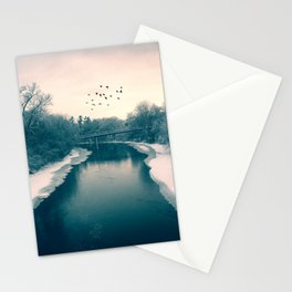 End of year storm Stationery Cards