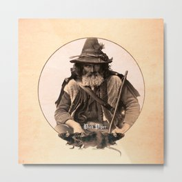 The Pied Piper (Plain Background) Metal Print