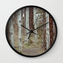Trail Through Quaking Aspen Wall Clock