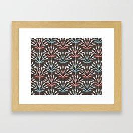 Daily pattern: Retro Flower No.7 Framed Art Print