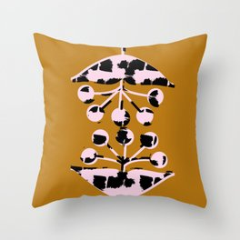 Seed Heads Throw Pillow