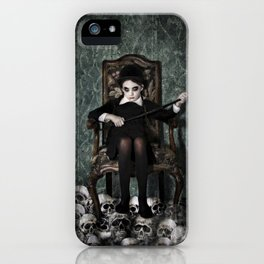 Queen of Skulls iPhone Case