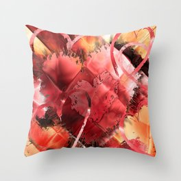 Game of Hearts by Mark Compton Throw Pillow