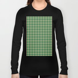 Tan Brown and Cadmium Green Diamonds Long Sleeve T-shirt