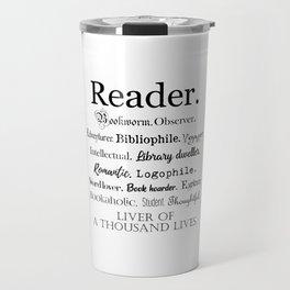 Reader Description Travel Mug