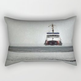 USCG Biscayne Bay in fog Rectangular Pillow